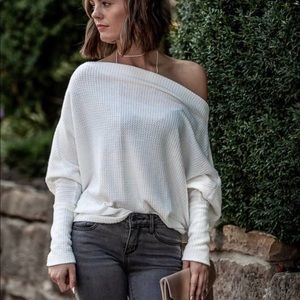 Sweaters - Off the shoulder dolman